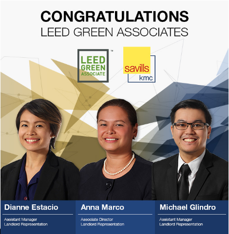 KMC Savills Congratulates Its LEED Green Associate Exam Passers