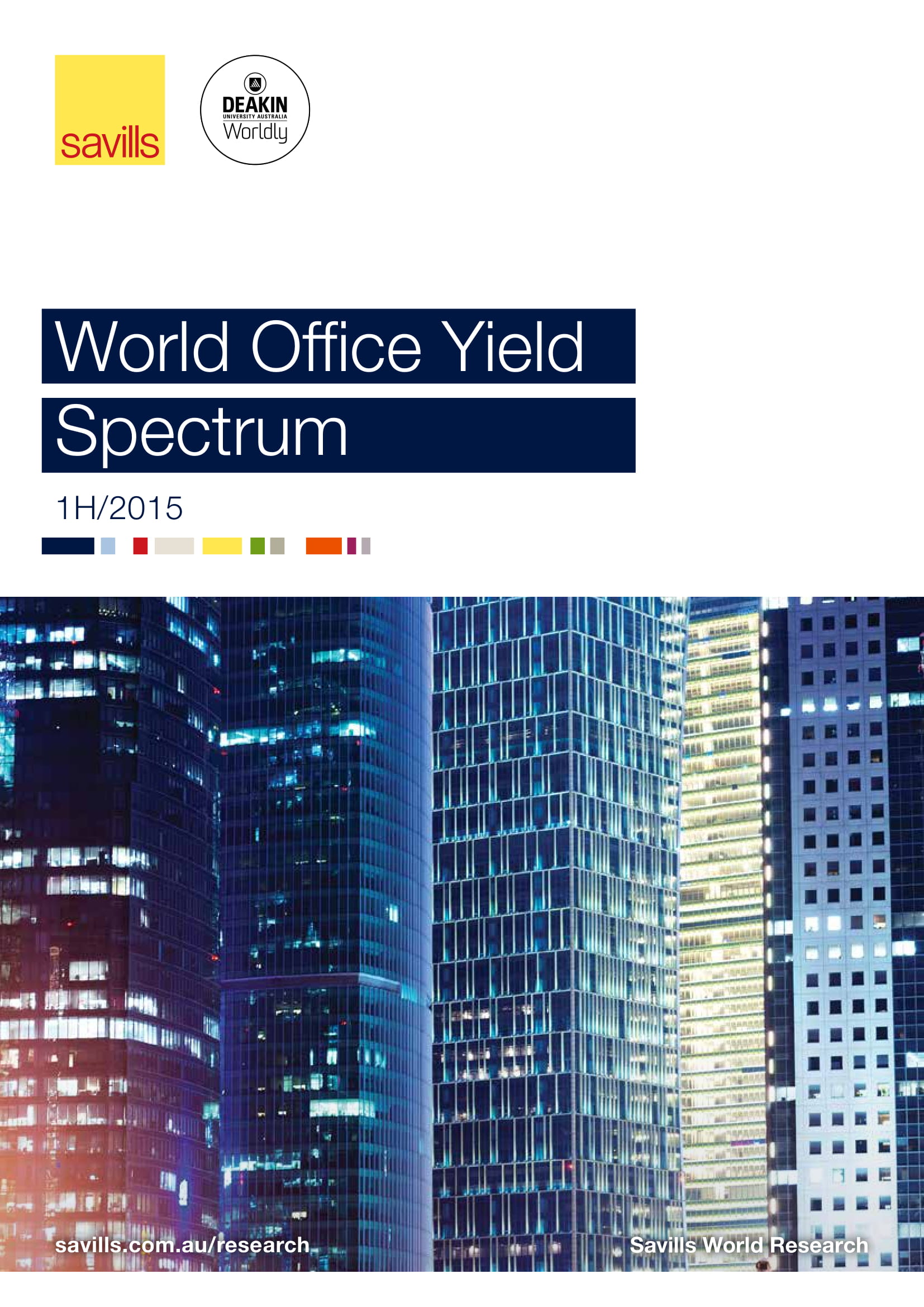 World Office Yield Spectrum 1H 2015