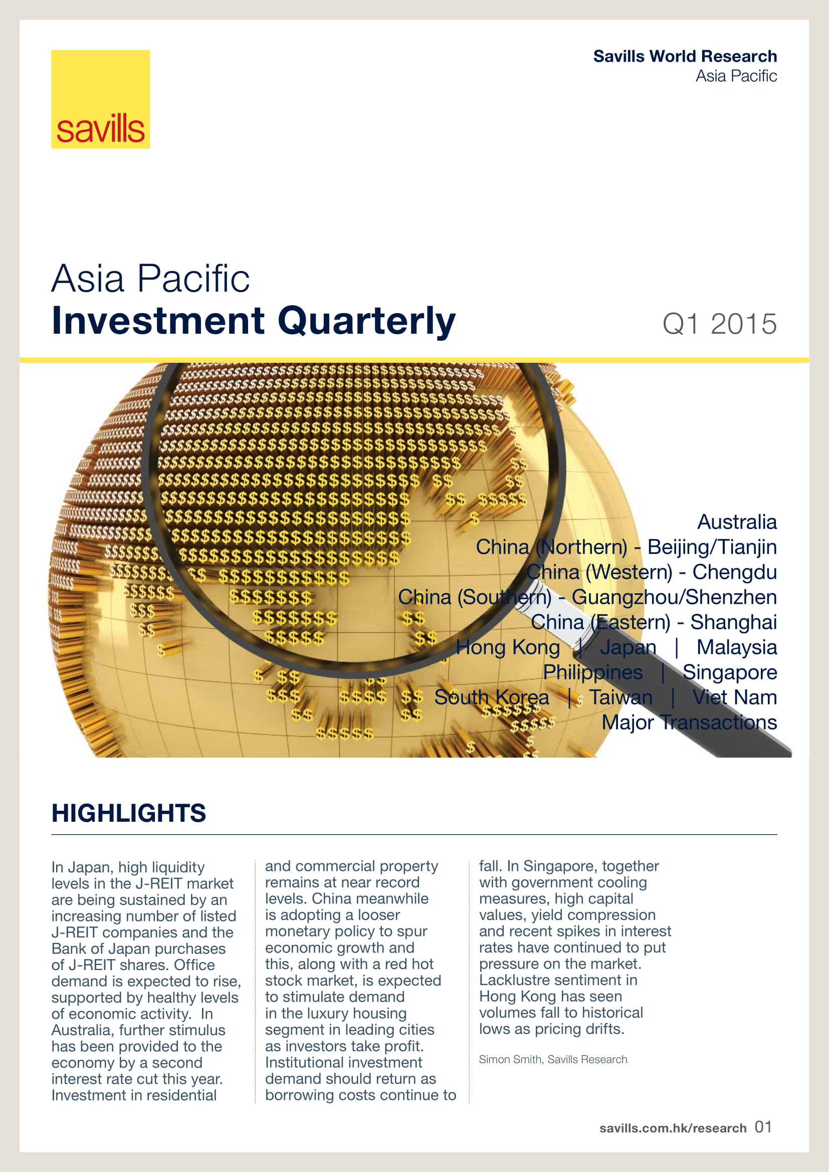 Asia Pacific Investment Quarterly Q1 2015