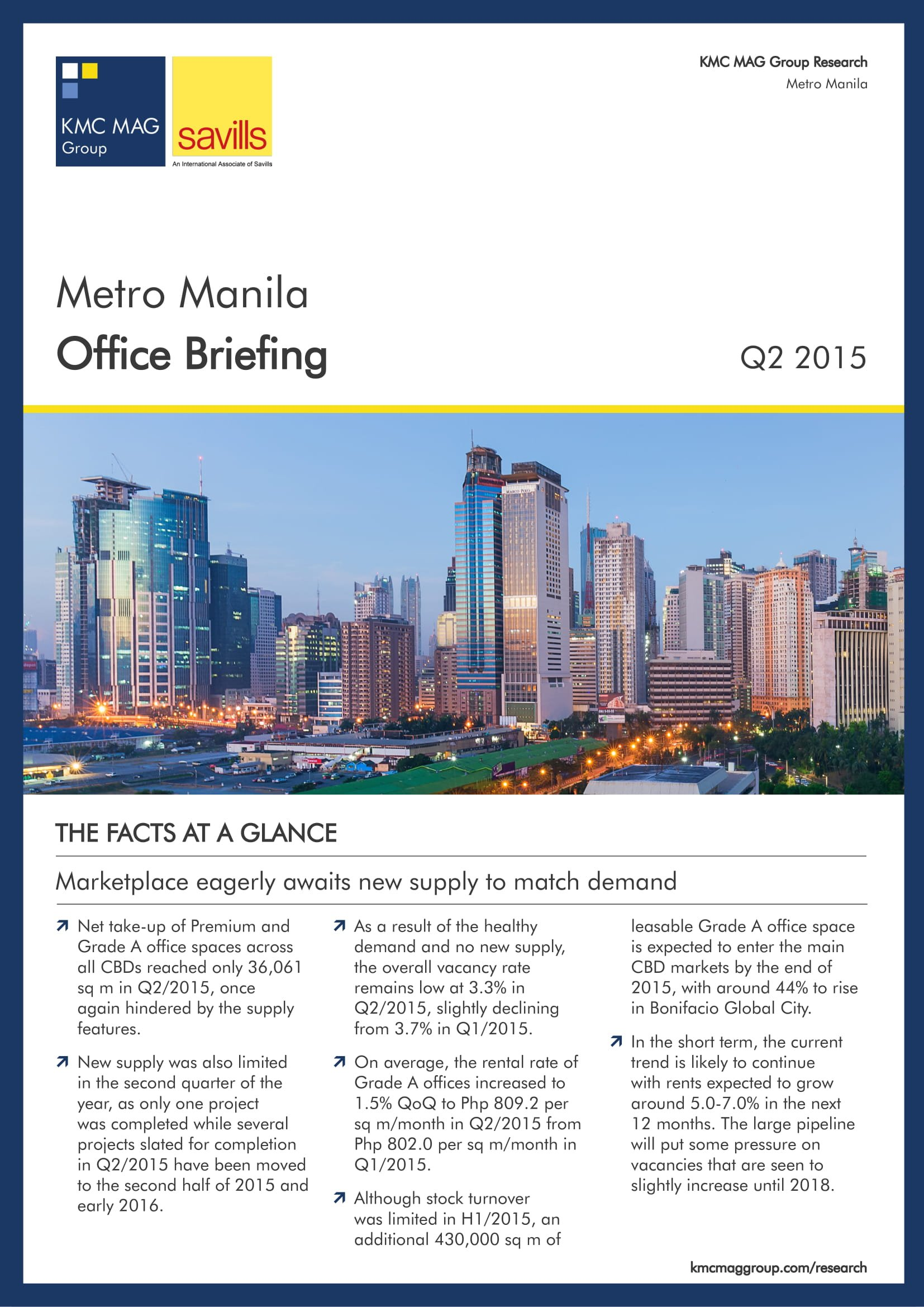 Metro Manila Office Briefing Q2 2015