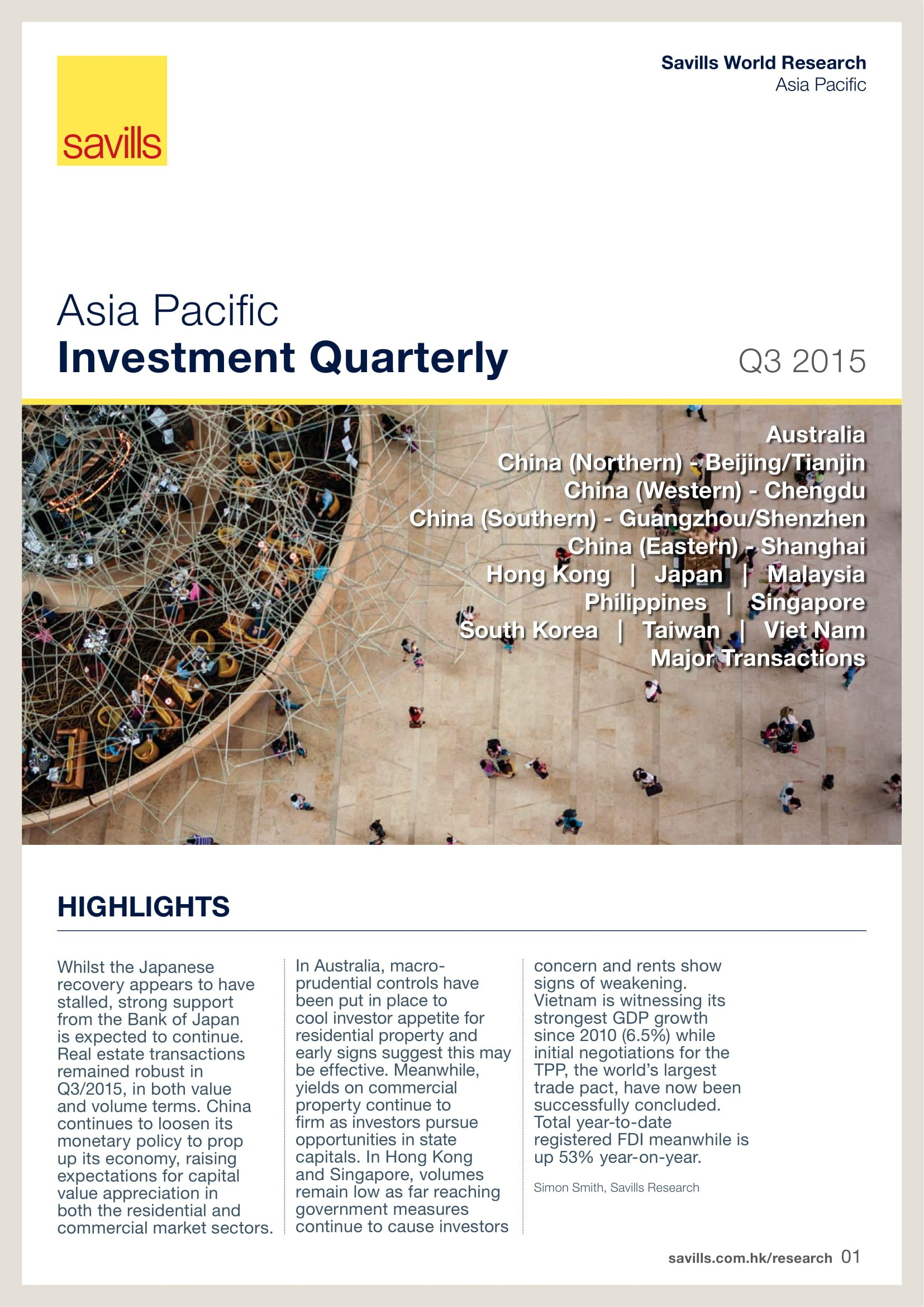 Asia Pacific Investment Quarterly Q3 2015