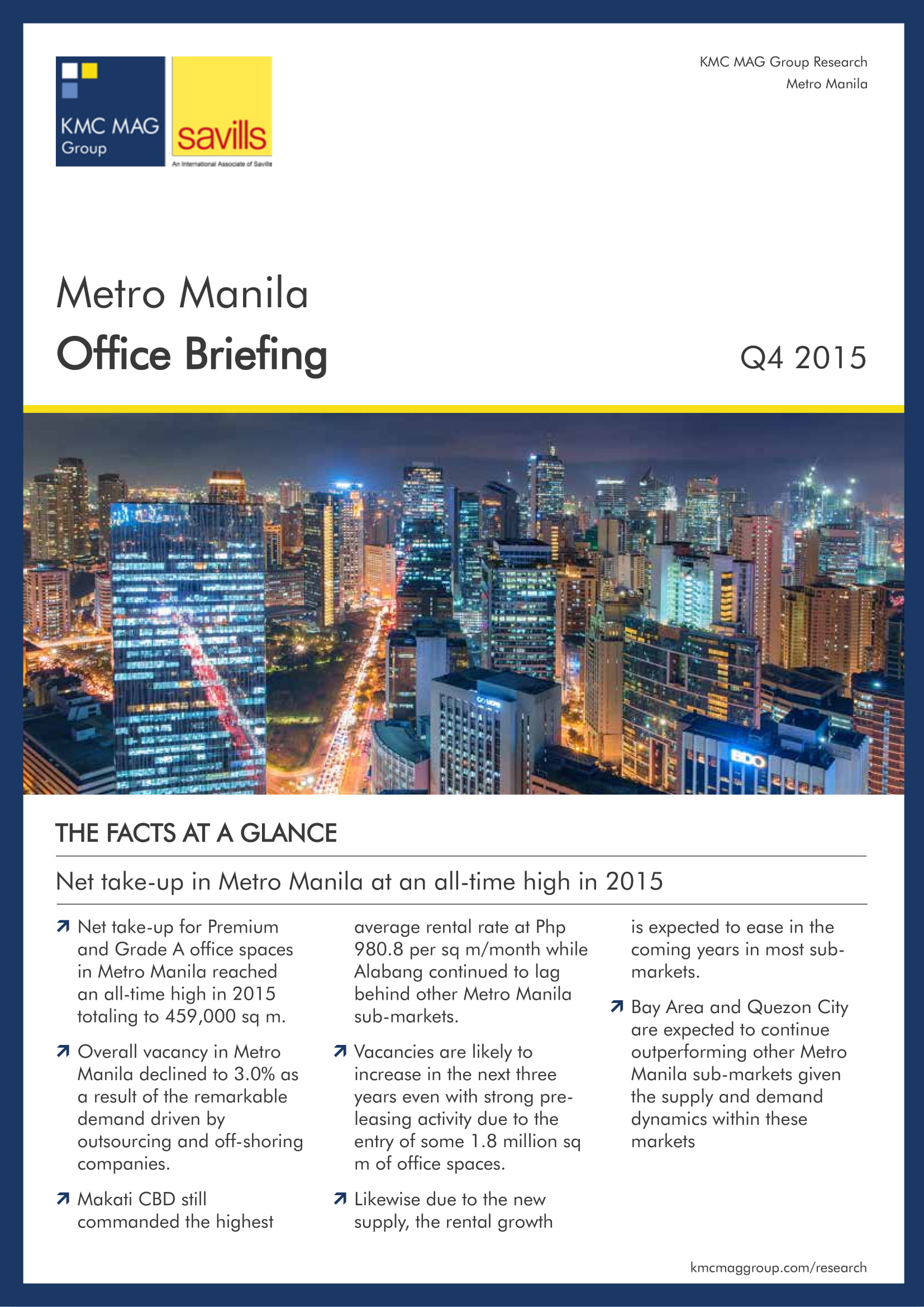 Metro Manila Office Briefing Q4 2015