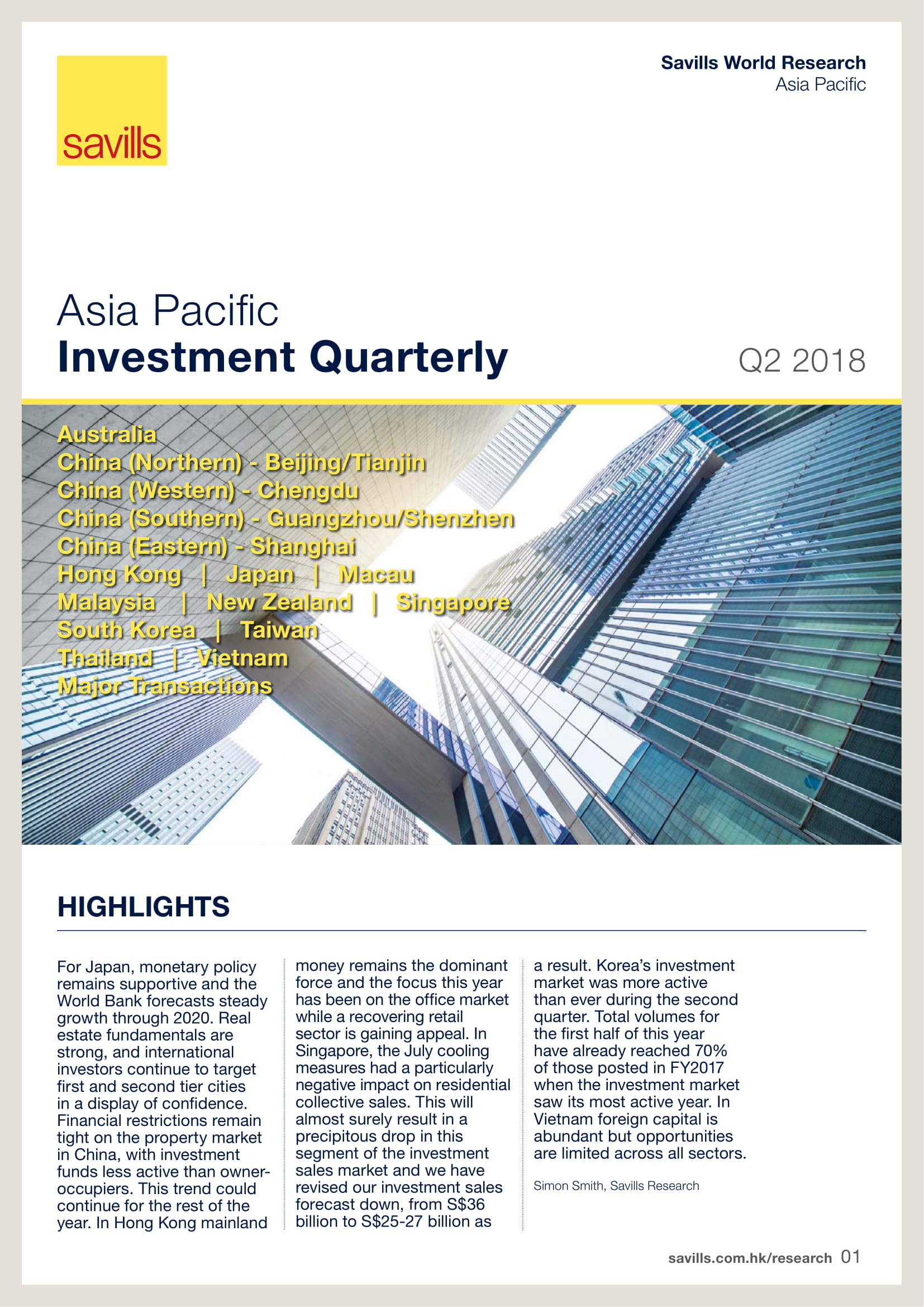 Asia Pacific Investment Quarterly 2Q 2018