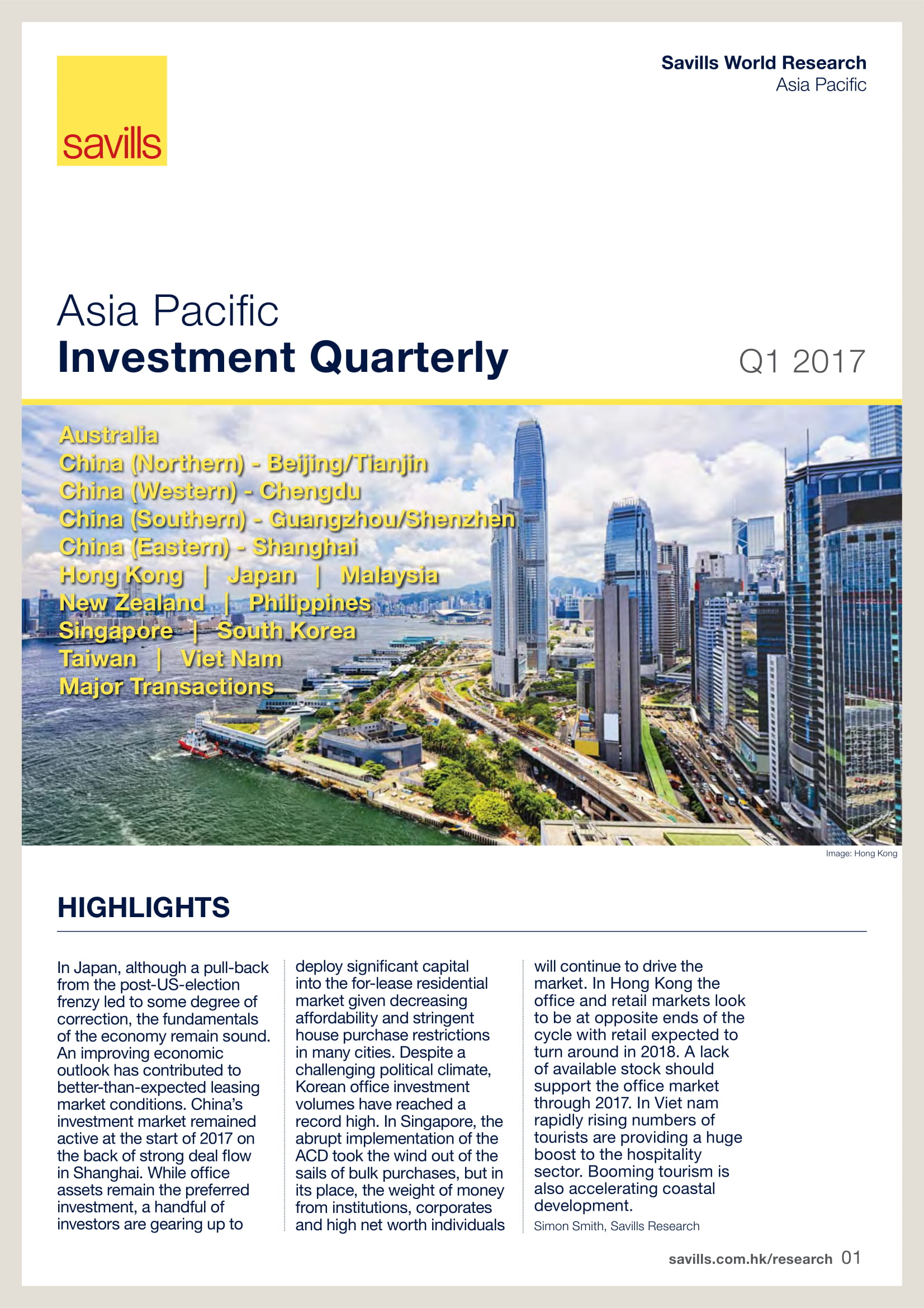 Asia Pacific Investment Quarterly Q1 2017
