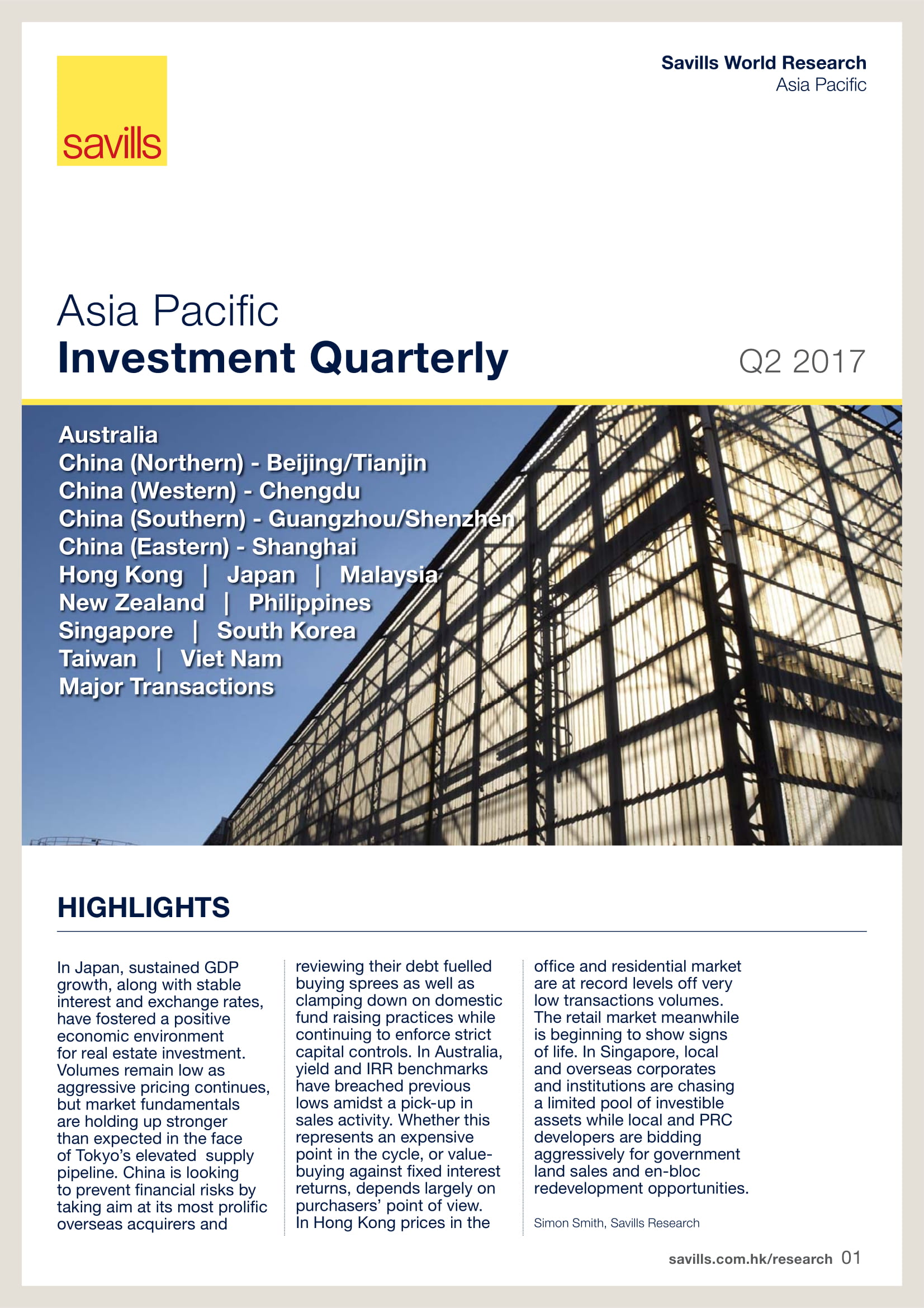 Asia Pacific Investment Quarterly Q2 2017