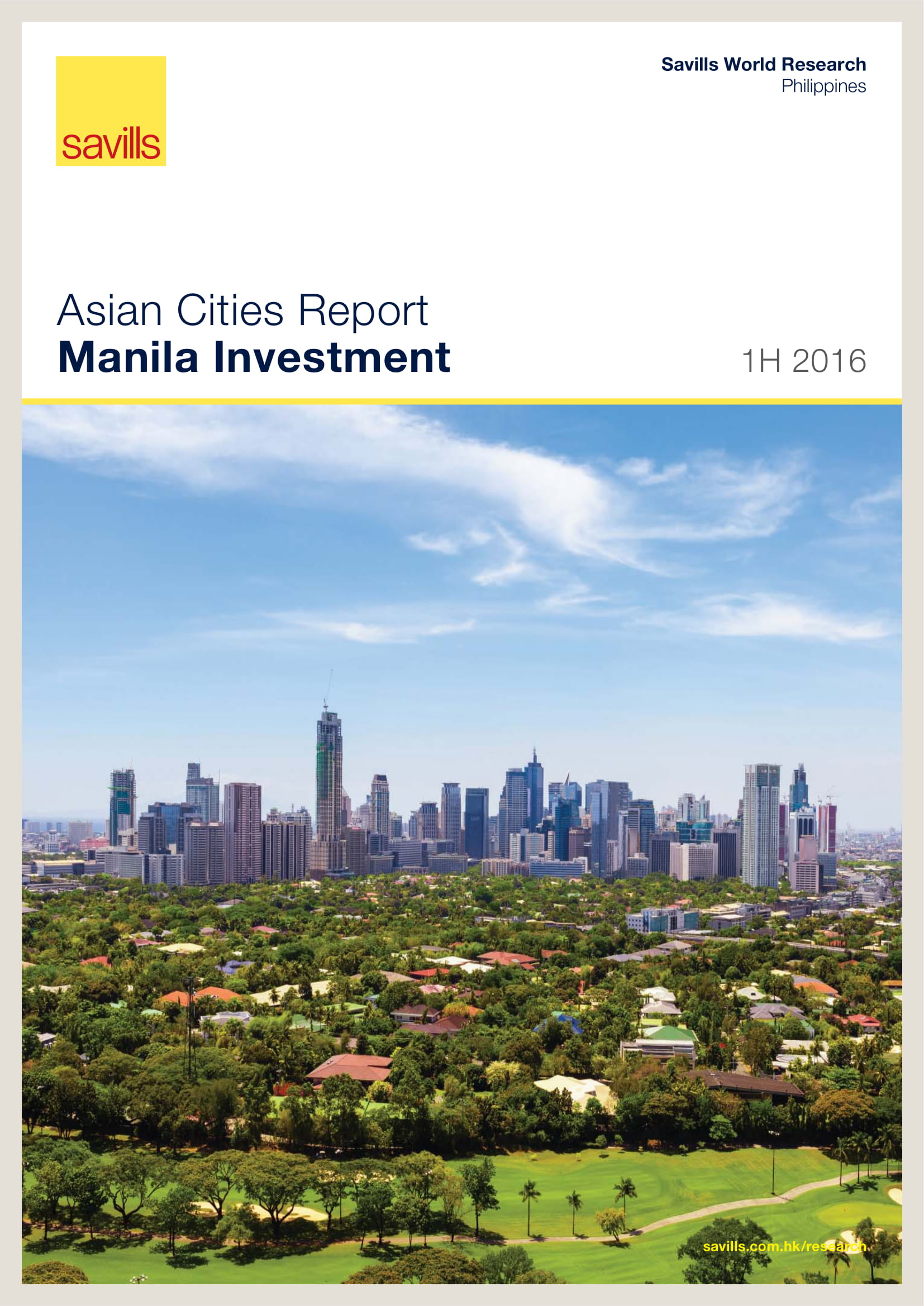 Asian Cities Report Manila Investment 1H 2016