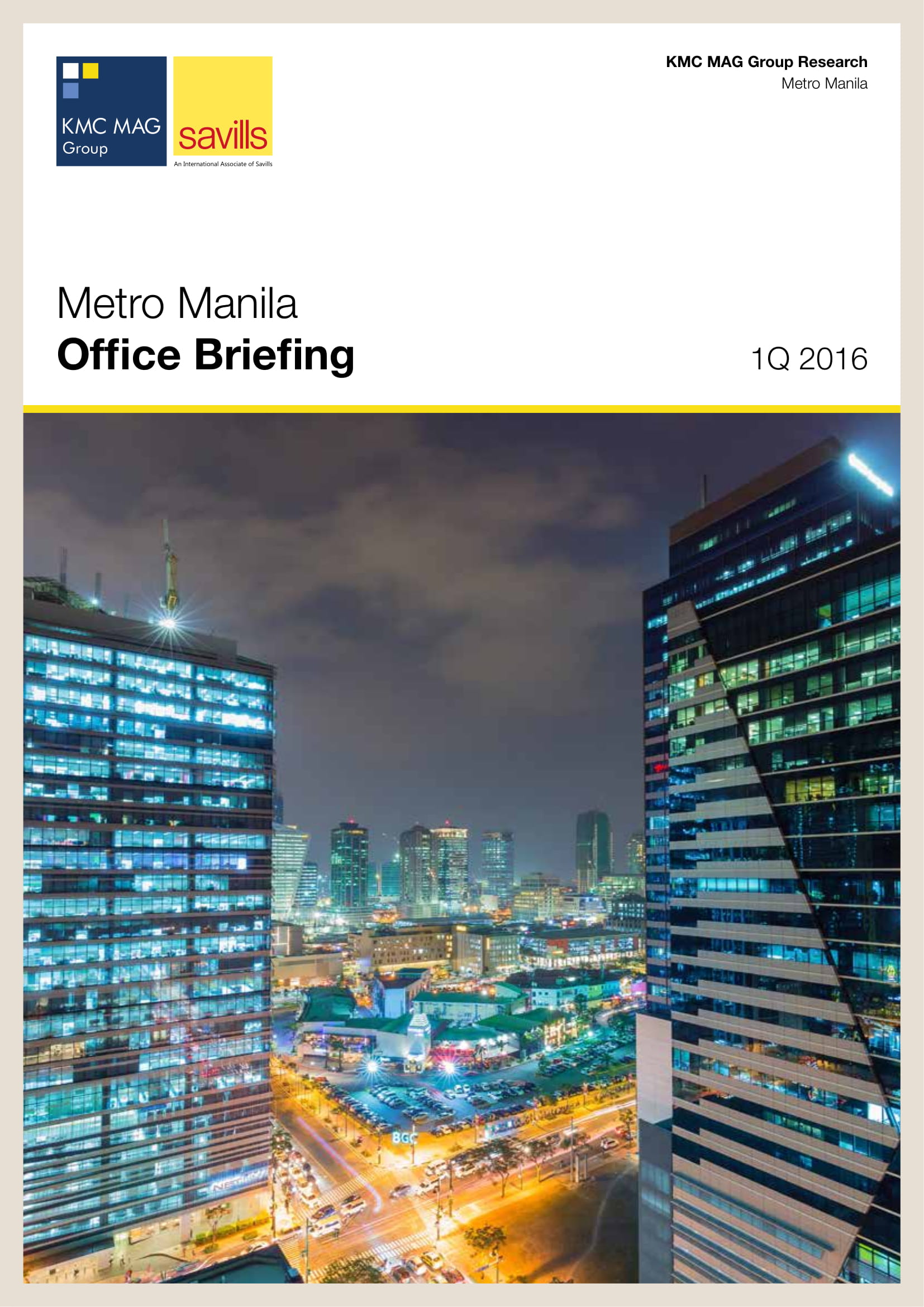 Metro Manila Office Briefing 1Q 2016