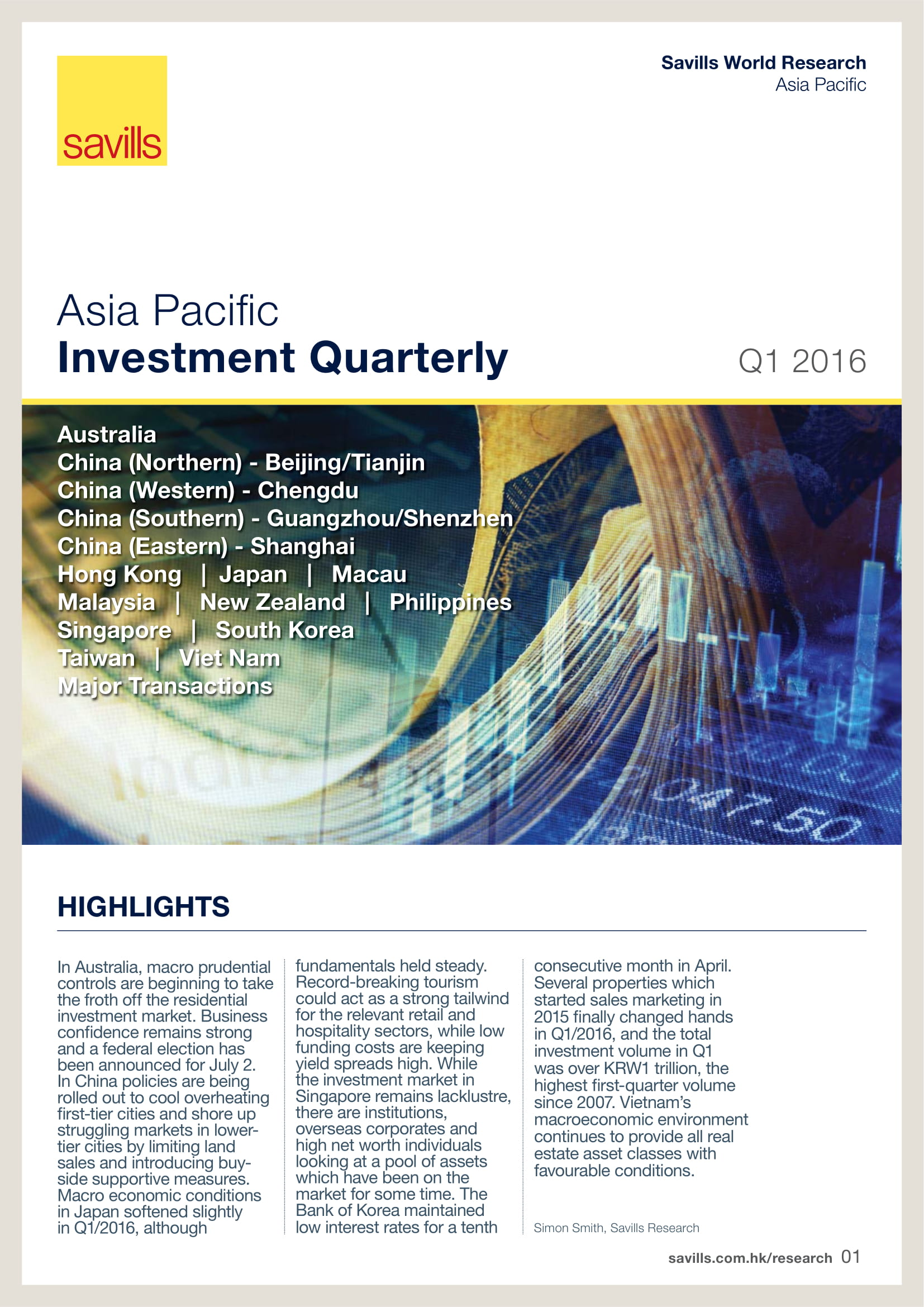 Asia Pacific Investment Quarterly Q1 2016